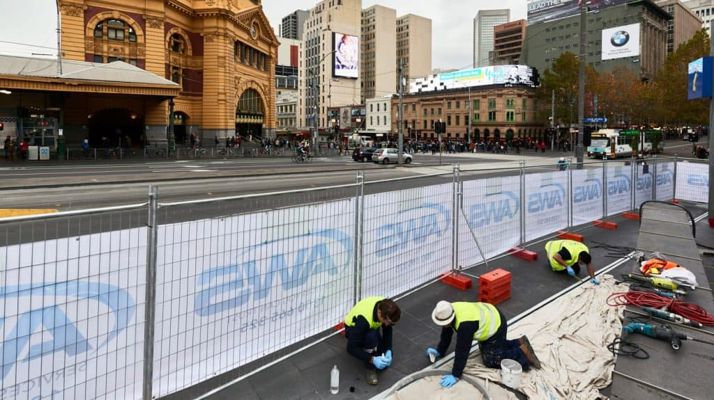 Federation Square - Expansion Joint Reapir
